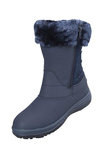 Mountain Warehouse Botas de nieve Selkirk forradas con felpa para mujer azul