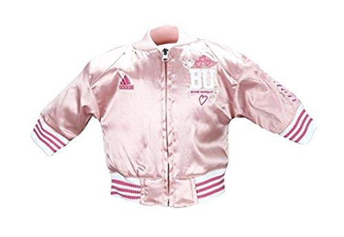 (adidas Boston University Infant Girls Varsity Satin Pink Jacket (12)