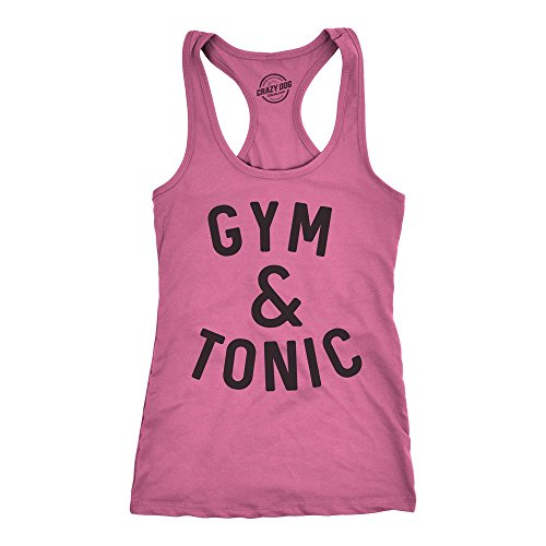 Women Tonic - Crazy Dog T-Shirts Womens Tank Gym and Tonic Funny Alcohol Drinking Fitness Workout Tanktop for Ladies -XL