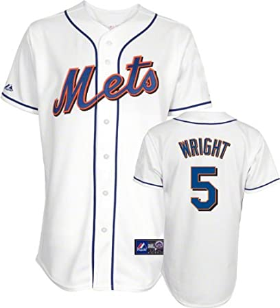 d5345786e Image Unavailable. Image not available for. Color  Majestic David Wright  Jersey  Youth Home White Replica  5 New York Mets Jersey