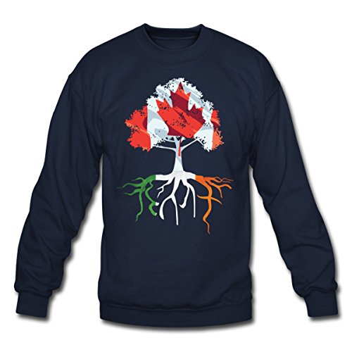 canada-irish-roots-irish-celtic-crewneck-sweatshirt-by-spreadshirt-l-navy