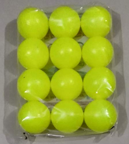 Effy Shoppy Plastic Cricket Ball   3 inch Diameter Yellow Balls  Set of 12