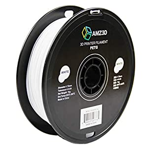 Amz3d 1.75mm white petg 3d printer filament – 1kg spool (2.2 lbs)