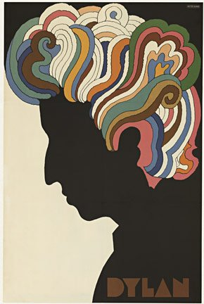 Bob Dylan by Milton Glaser - Vintage Music Poster at