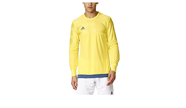 adidas Men's Performance Entry 15 Goalkeeper Jersey, Bright Yellow, Large