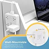 Power Strip with USB, TROND Surge Protector Flat
