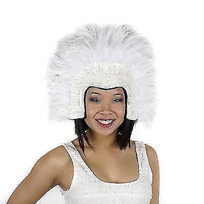 (White Carnival Costume Feather Headdress - Halloween Cosplay Party Hair Accessories)