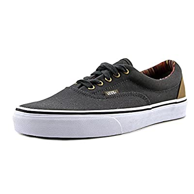 Vans Men's Indo Pacific ERA Skate Shoes (10.5 B(M) US Women / 9 D(M) US Men, Dark Shadow/True White)