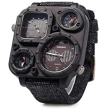 Fashion Watches Relojes Hermosos, Hombre Reloj Deportivo/Reloj Militar/Reloj de Vestir/Reloj de Moda/Reloj de Pulsera Cuarzo Calendario/Tres Husos ...