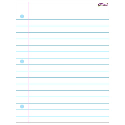 Trend Enterprises, Inc. T-27308BN Notebook Paper Wipe-Off Chart, 17'' x 22'', Pack of 6 by TREND Enterprises