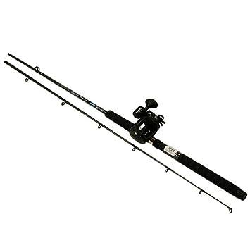 Okuma CP-DR-762ML-20DXT Great Lakes Trolling Combo, 7 6 Length, 2 Piece Rod, Medium Light Action, 2BB Bearings