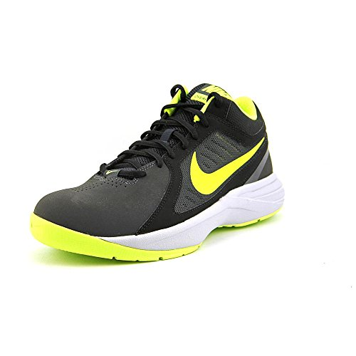 cfc8851ef718 Nike The Overplay VIII Mens Size 7 Black Mesh Basketball Shoes