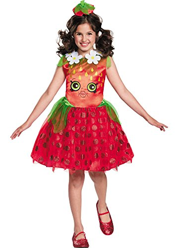 Shopkins Strawberry Classic Costume, One Color, Small/4-6