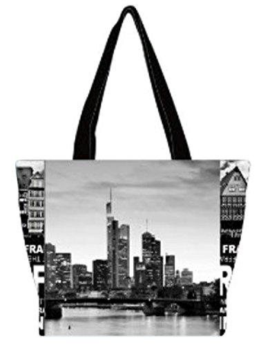 Robin Ruth Canvas kleine Umhängetasche FRANKFURT Foto in schwarz (Maße: LxHxT 25x25x11cm)