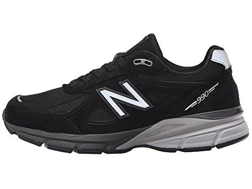 New Balance Women's W990V4 Run Shoe-W, Black/Silver, 8 B US