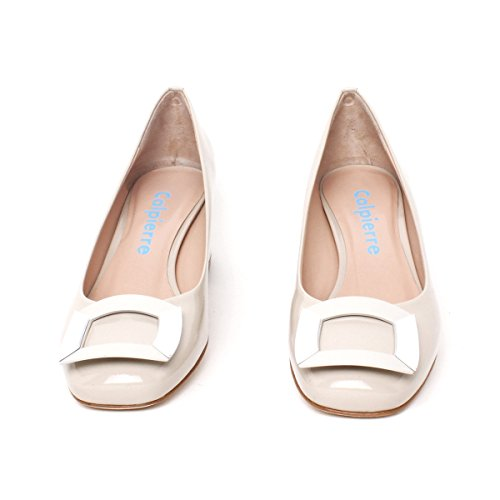 Calpierre Dh104-5059 - Zapatos de vestir de Piel para mujer Beige (Cicogna)
