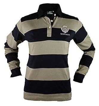 Camiseta de Rugby de Manga Larga para Dama con Escudo de Scotland ...