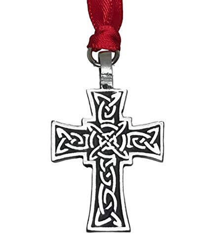 (Pewter Celtic Knot Cross Irish Christmas Ornament and Holiday)