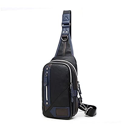 Image Unavailable. Image not available for. Color  KEROUSIDEN Casual Men s  Chest Bag Messenger Bag Shoulder Bag Outdoor Sports Korean Tidal Small  Backpack ... 568604da41321