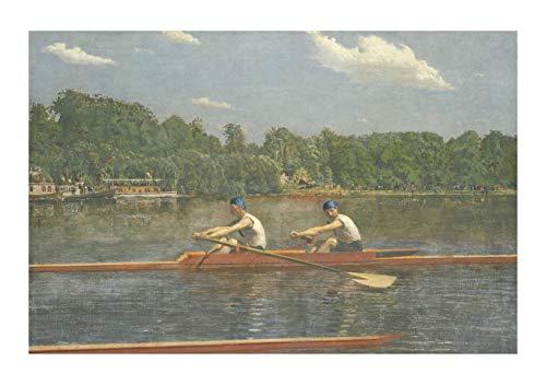 Spiffing Prints Thomas Cowperthwait Eakins - The Biglin Brothers Racing - Large - Matte - Unframed