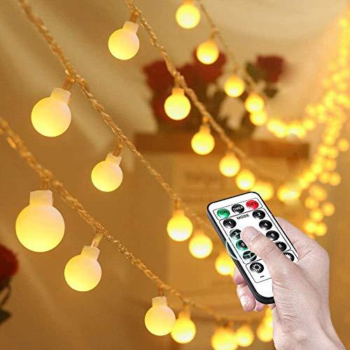 Led String Lights 80 LED Globe Fairy Lights IP65 Waterdichte Batterij Aangedreven Party Lights met Remote Timer voor…