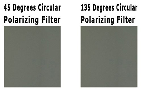 3D Circular Polarizer Pair of Sheets - Left and Right - Can Sunglasses Have Lenses Optical