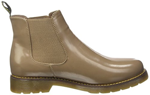 Sopily - damen Mode Schuhe Stiefeletten Chelsea Low boots flashy Schuhabsatz Blockabsatz - Khaki