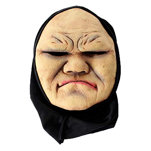 Halloween Zombie Mask Mask Scary Devil Mask, Costume Mask for Adults Party Decoration Props Creepy, Natural Latex, TLT Retail -