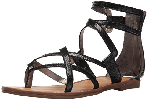 (Circus by Sam Edelman Women's Bevin Flat Sandal, Black, 6.5 M US)