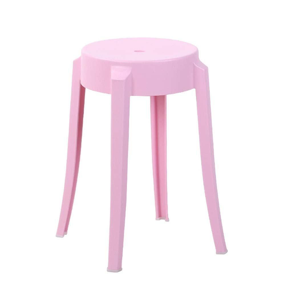 Pink Stools Super Strong Plastic Step Stool - Premium Compact and Lightweight Anti Slip Stool with Handles for Kids and Adults Breakfast Bar Kitchen Fashion Dining Stool Round Stool Latest Model