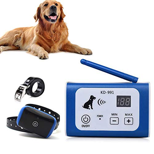 Wireless Electric Dog Fence Pet Containment System, Safe and Effective Anti Over Shock Design, Adjustable Control Range Up to 550YD & Display Distance, 1 Collar Receivers Rechargeable Waterproof