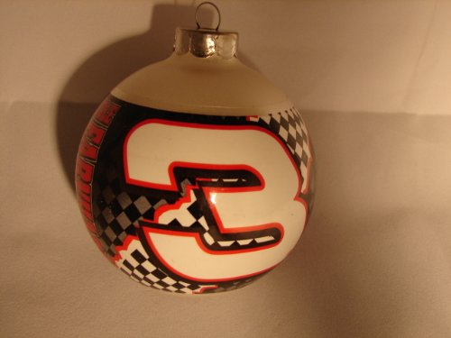 Dale Earnhardt Christmas Ornament - NASCAR GM Goodwrench service plus Dale Earnhardt the intimidator #3 Christmas ball ornament