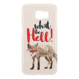 Loud Universe Samsung Galaxy S6 3D Wrap Around Fox What The Hell Print Cover - Multi Color
