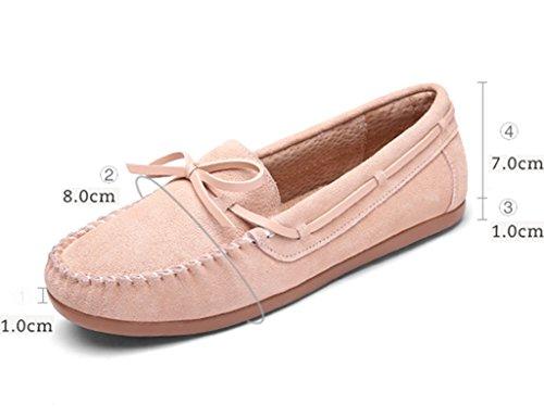 guida da Pedal Primavera Scarpe Scarpe Female donna Colore Scarpe Flat Shoes A HWF Shoes da casual pigri Peas 37 Scarpe dimensioni Rosa donna awxgqFqfAT