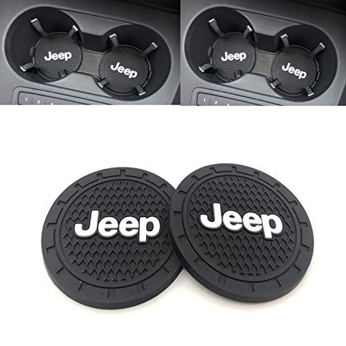 - Ldntly 2.75 Inch Diameter Car Cup Holder Coasters,Oval Tough Car Logo Vehicle Travel Auto Cup Logo Heavy Duty Rubber Coaster 2 pcs Set (J eep)