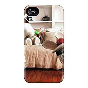 Tpu Case For Iphone 4/4s With Gaming Rabbids