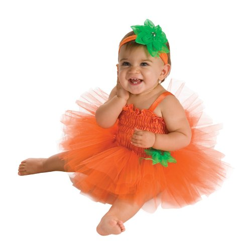 Rubies Pumpkin Infant Halloween Costume (Rubie's Costume Newborn Pumpkin Tutu Dress, Orange, 6-9 Months)