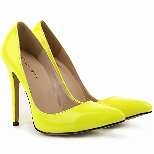 ZCH shoes wedding heels party heels female shoes high high large 37 dress 42 Pointed Patent leather banquet yards rwaxr8n4qE
