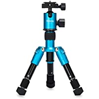 Selens SE-Tmini 18.2in Portable Camera Tripod with Ballhead and Protect Bag for Canon Nikon Sony Samsung, Panasonic, Olympus,kodak, Fuji, Cameras and Camcorders (Blue)