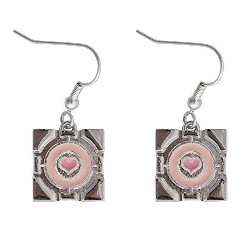 Cube Ring (Portal 2 Companion Cube Earrings Ear rings)