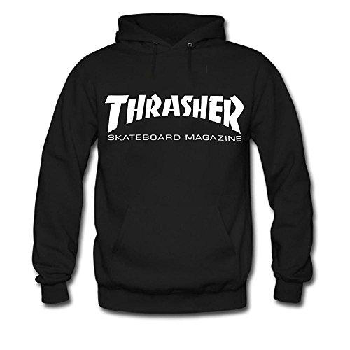 Thrasher Fashion Skateboard Men's Lightweight Fleece Hoodie Sweatshirt