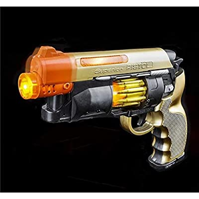 "9.5"" LIGHT-UP BLASTER WITH SOUND: Toys & Games"