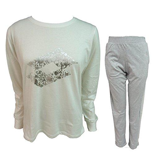 Panna lungo nuova LP2004 art LOTTO donna collezione in cotone pigiama fC1Bnwqn