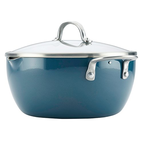 Ayesha Curry 10564 Home Collection Straining Casserole, 5.5 quart, Twilight Teal by Ayesha Curry (Image #4)