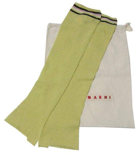 [マルニ] MARNI ロング手袋(指なし)  グリーン Sサイズ (並行輸入品)