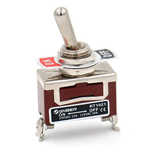 Baomain Toggle switch SPST ON OFF 2 position 250VAC 15A 125VAC 20A 1/2