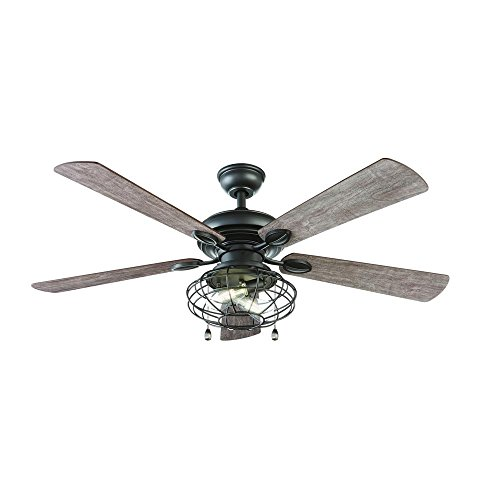 "Home Decorators Collection YG629-NI 52"" LED Indoor Natural Iron Ceiling Fan"