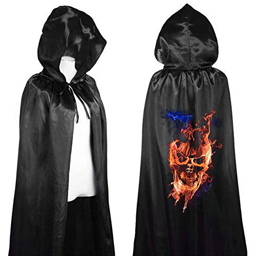 MEANIT Unisex Long Hooded Cloak for Halloween Christmas Masquerade Cosplay Costume -