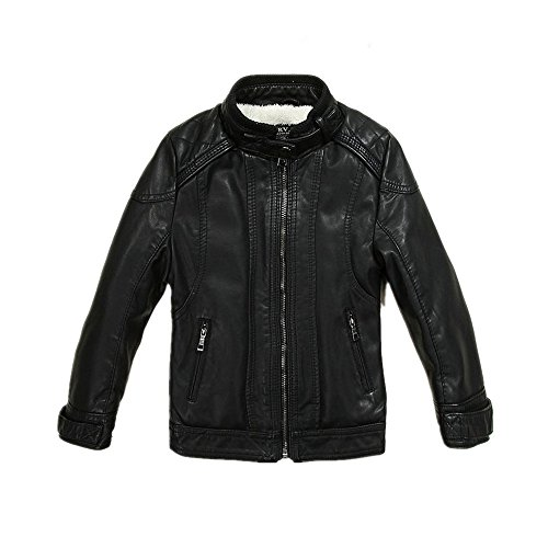 3c67705a0f54 LJYH Boys Leather Jacket New Spring Thick Velvet Children s Clothing ...