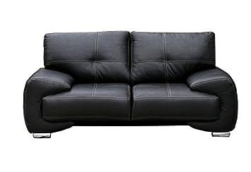 Meublo canapé fixe 3 places simili cuir 230 x 100 x 90 cm bureau